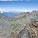 Blick nach Norden Richtung Aostatal und Monte Emilius (rechts).