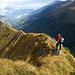 Abstieg über den Chirelgrat