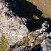 Herrliche Klettereien in zwar etwas zweifelhaftem Fels