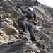 Eine der drei Kletterpassagen