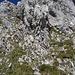Vereinigungsstelle: Aufstiegsroute links, Abstiegsroute rechts