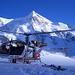 Helikopter-Transport vor der Cabane du Mountet