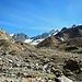 Geröll, Fels und Schutt als Hinterlassenschaft des Gletschers