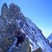 Ausgesetzte Kletterei auf dem N-Grat zum Zinalrothorn