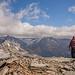 Bild von D.: ein verfrorener Schneemann auf dem Gipfel