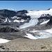Steghorn, Gipfelpanorama. Rechts Wildstrubel- und links Lämmerengletscher.