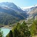 Anreise, kurz vor der Alp Grüm: Vadret da Palü, Acqua da Palü und Lagh da Palü.