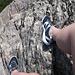 Meine Schuhwahl ist eher suboptimal. Ideal wären wohl Tevas oder etwas in der Art von Salomon Techamphibians.
