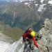 Abseilen am Lochmatterturm, viele solide Fixpunkte zur Auswahl
