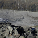 Tiefblick zum Morteratsch und dem Gletscherlehrpfad