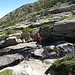 den Abfluss des Lavu del'Oriente - den Ruisseau de Lomento - querend