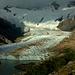 Morgenstimmung mit Glaciar Grande, der in den Glaciar Torre mündet