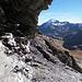 Sotto lo sguardo del Tambo, la dorsale che si stacca dall'anticima SW del Cavriola (da aggirare, come pure quella che scende dalla cima principale)