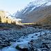 es fließt viel Wasser vom Gletscher