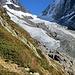 die Reste des sichtbaren Gletschers
