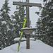 Gipfelkreuz auf dem (Libinger) Horn (1111m)