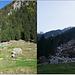 Versante prima (21-10-2012) e dopo la frana del 26-07-2013