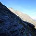 Schlüsselstelle im Aufstieg zur Bassa: Bei Trockenheit ein Spaziergang, bei Nässe sehr unangenehm