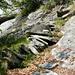 Aufstieg zur Alpe di Nassa - luftige Treppe im Al Scrann