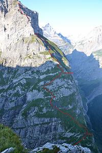 Route von Birchli über Luegboden.