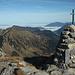 Auf dem Gipfel des Widderfeld Stockes, in Front die gesamte Tour.