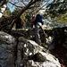 langsam fangen die Klettereien an