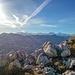 Blick vom Heftiboden in die Alpen