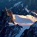 Morgensonne an der Aiguille du Midi