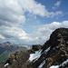 Gipfel des Ridge Peak, links die finalen Aufschwünge der Delta Ridge