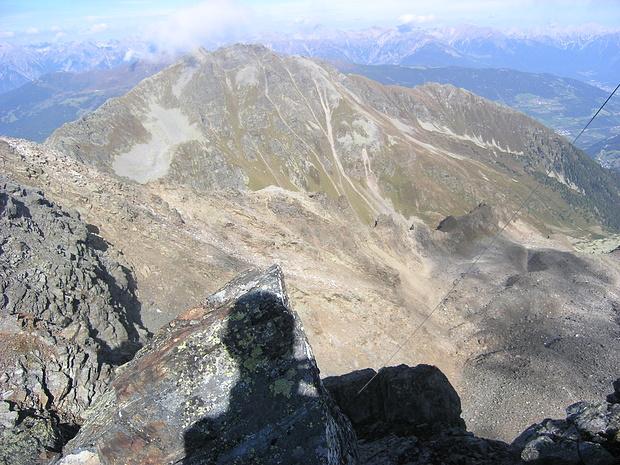 Blick vom Köpfle zum von mir Jahre zuvor bestiegenen Hohen Aifnerspitze