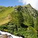 am Wasserfall mit Blick Richtung Mont Noble