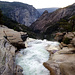 Top of Nevada Fall: At this point the water falls down 600 feet.
