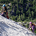 """They seem to have lots of fun - in the foreground you can see the """"crux"""" slab traverse"""