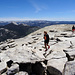 Summit plateau of Half Dome: A lot of tourists and some unexpected...