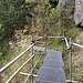 Das Metallgestell nach der Felsenkammerhütte (Blick zurück)