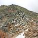 Piz Grisch, Südrippe, die direkt zum Gipfel leitet