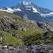 Baden wär ne prima Alternative: Breithorn über dem Oberhornsee, rechts der W-Grat im Profil