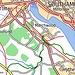 Unsere Wanderroute (grün) von Hythe nach Beaulieu Road.<br />Datengrundlage: ERM UK<br />Symbolisierung und Beschriftung: eigenes Werk