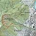 Karte: Die Rippe mit dem Leimbachpfad Nord - der steileren, anspruchsvolleren Variante des Leimbachpfades Süd - kann auch auf dem (häufig ziemlich nassen) Weg, der dem Rütschlibach entlang führt, erreicht werden. Am besten folgt man dem Weg bis zuhinterst ins Tobel, macht dann eine scharfe Spitzkehre Richtung links (etwas vor der Spitzkehre Richtung rechts, die zur Felsenkammerhütte und zur Ruine Manegg führt) und geht auf dem Pfad auf der Tobelkrete soweit zurück, bis man am Fuss der Rippe steht.