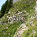 Gesicherte Stelle an der Südseite vom Rothorn