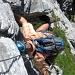 Angelo versucht die Passagen wenn möglich frei zu klettern.