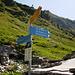 Segnavia al Rifugio Alpe Fumegna 1810m (VAV - Via Alta Verzasca)