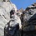 Tinu in der ersten Kletterstelle beim Einstieg