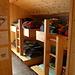 Il dormitorio della capanna