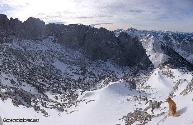 Abstieg zurück ins schneelose Tal...
