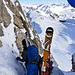 Das ist sie, die II-crux, welche uns um 10m vom Gipfel trennt.