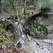 alte, in Mitleidenschaft gezogene Brücke ausgangs Flüegrabe ...