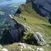 Tiefblick aus dem Esel E-Grat auf die Rossegg und den See