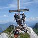 Reiner, Jürgen, Christian und ich auf dem Gipfel des Brüggler (Foto: Reiner Beck)