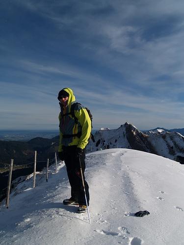 B.E. auf dem Gelchenwanger Kopf.<br />Man beachte, mein Handschuh liegt im Schnee. Den hab ich zum fotografieren kurz ausgezogen...
